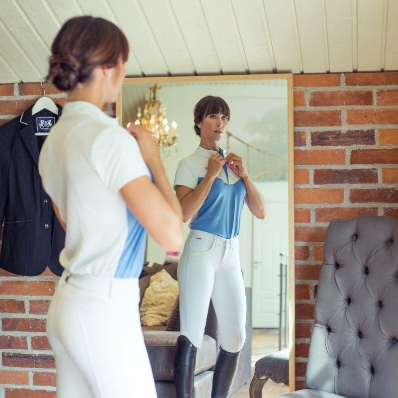 B Vertigo Denise Curvy naisten normaalivyötäröiset ratsastushousut polvipaikoilla
