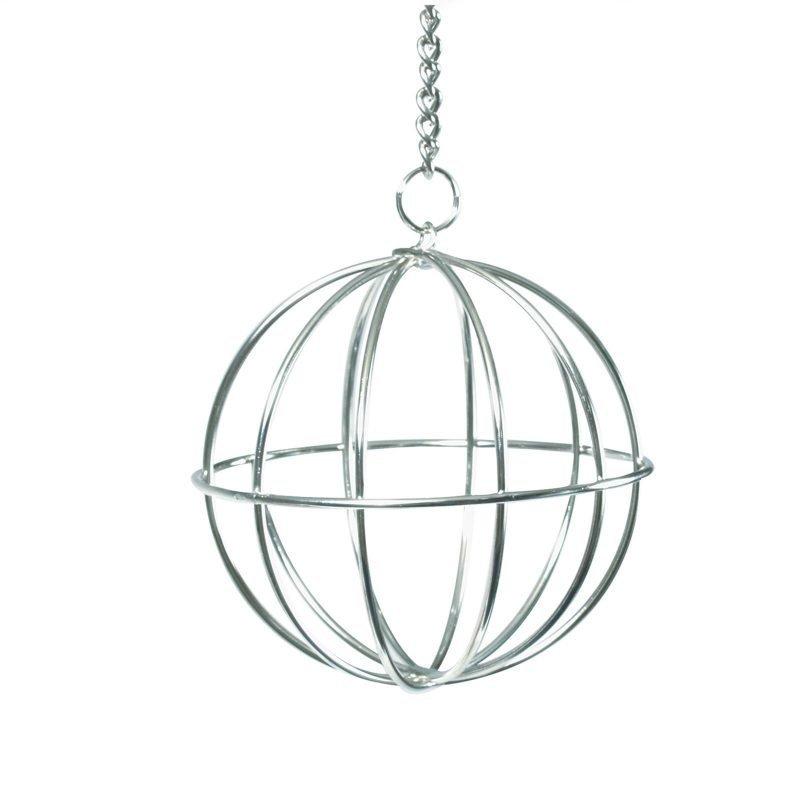 Beeztees Kanien metallinen ruokintapallo ketjulla kromia