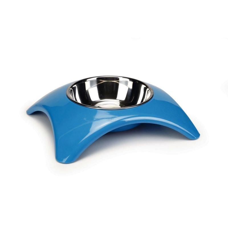 Beeztees Yuko kissan/koiran melamiinikuppi sininen 23.5 x