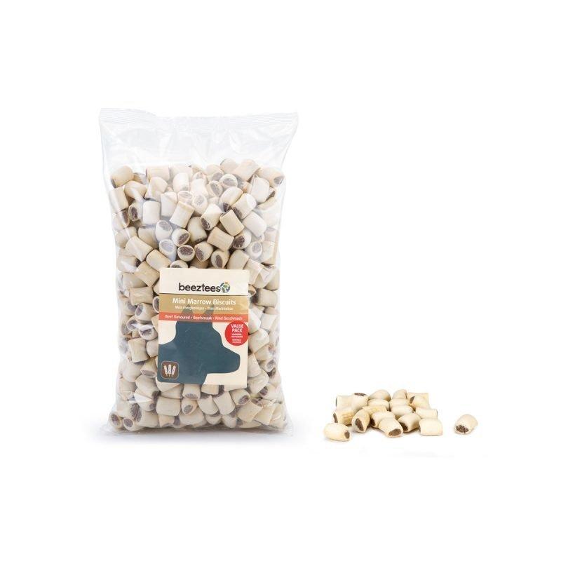 Beeztees mini naudan luuydinkeksit säästöpakkaus 1400 g