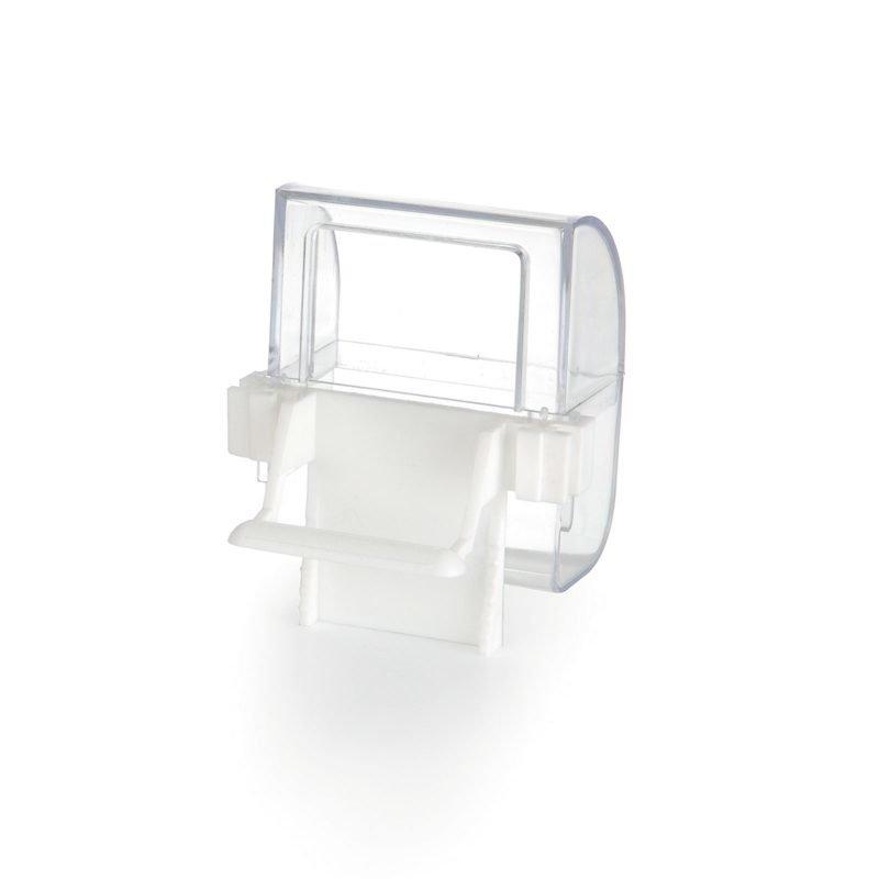 Beeztees muovinen ruoka- ja vesiautomaatti valkoinen läpinäkyvä 2 kpl