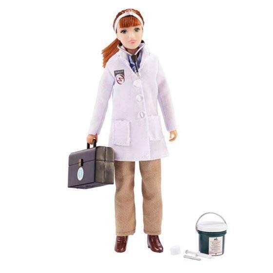 Breyer Traditional (1:9 mittakaava) Laura – Eläinlääkäri tarvikkeineen 20cm Hahmo