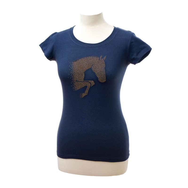 Cavalliera BROWN FULL CRYSTAL JUMPING HORSE lyhythihainen paita