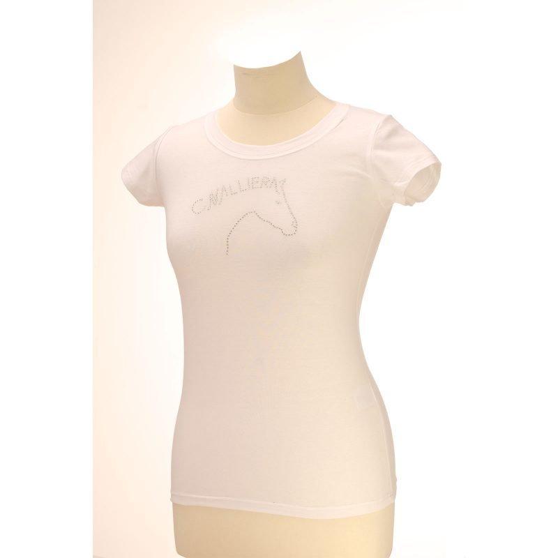 Cavalliera CAVALLIERA ART t-paita taiteellisella kristalleista muodostuvan hevosen pään kuvalla