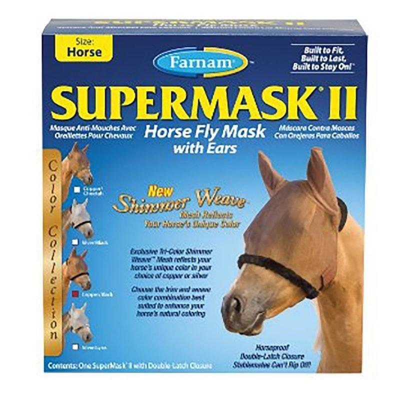 Farnam Supermask II kärpäshuppu korvasuojilla verkkokangasta
