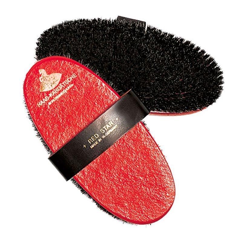 Haas Red Star punainen nahkaharja