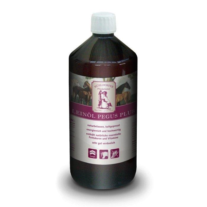 Mühldorfer pellavansiemenöljy Pegus Plus 1 litra