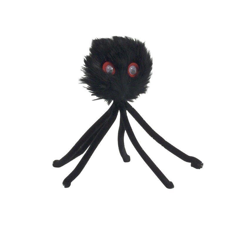 Plyysi hämähäkki musta 15 cm