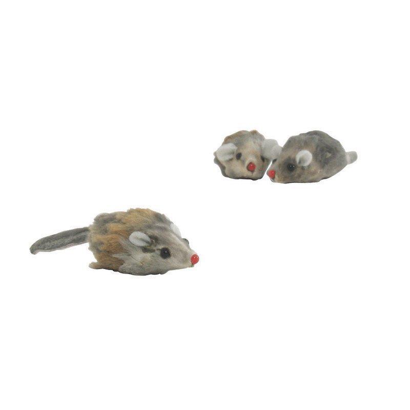 Plyysi hiiri lyhyt karva 3 kpl 5  cm