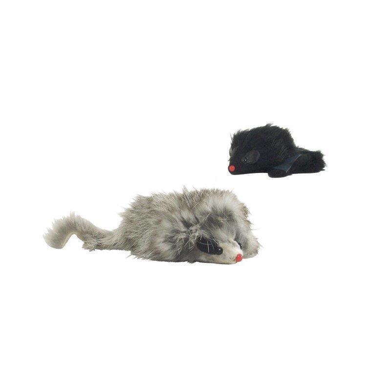 Plyysi hiiri pitkä karva värilajitelma 7.5 cm