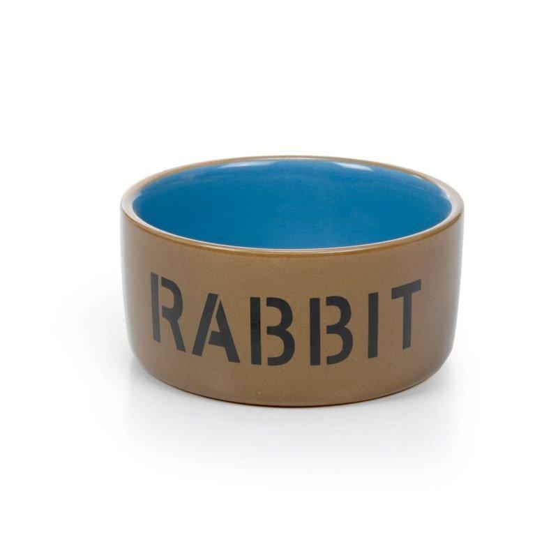 Rabbit keraaminen ruokakuppi kanille