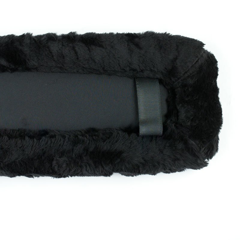 Rintaremmin pehmuste leveä teddy (110x15 cm)