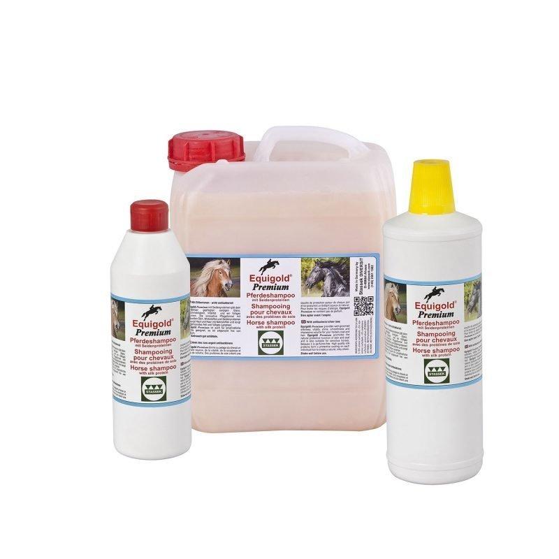 Stassek Equigold Premium hevosen shampoo 2 litraa