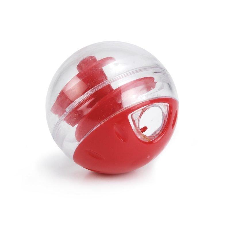 Twirly säädettävä muovinen kissan herkkupallo punainen 5.5 cm